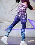Женские фитнес лосины для спорта с модным принтом, фото 4