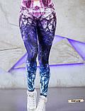 Женские фитнес лосины для спорта с модным принтом, фото 5
