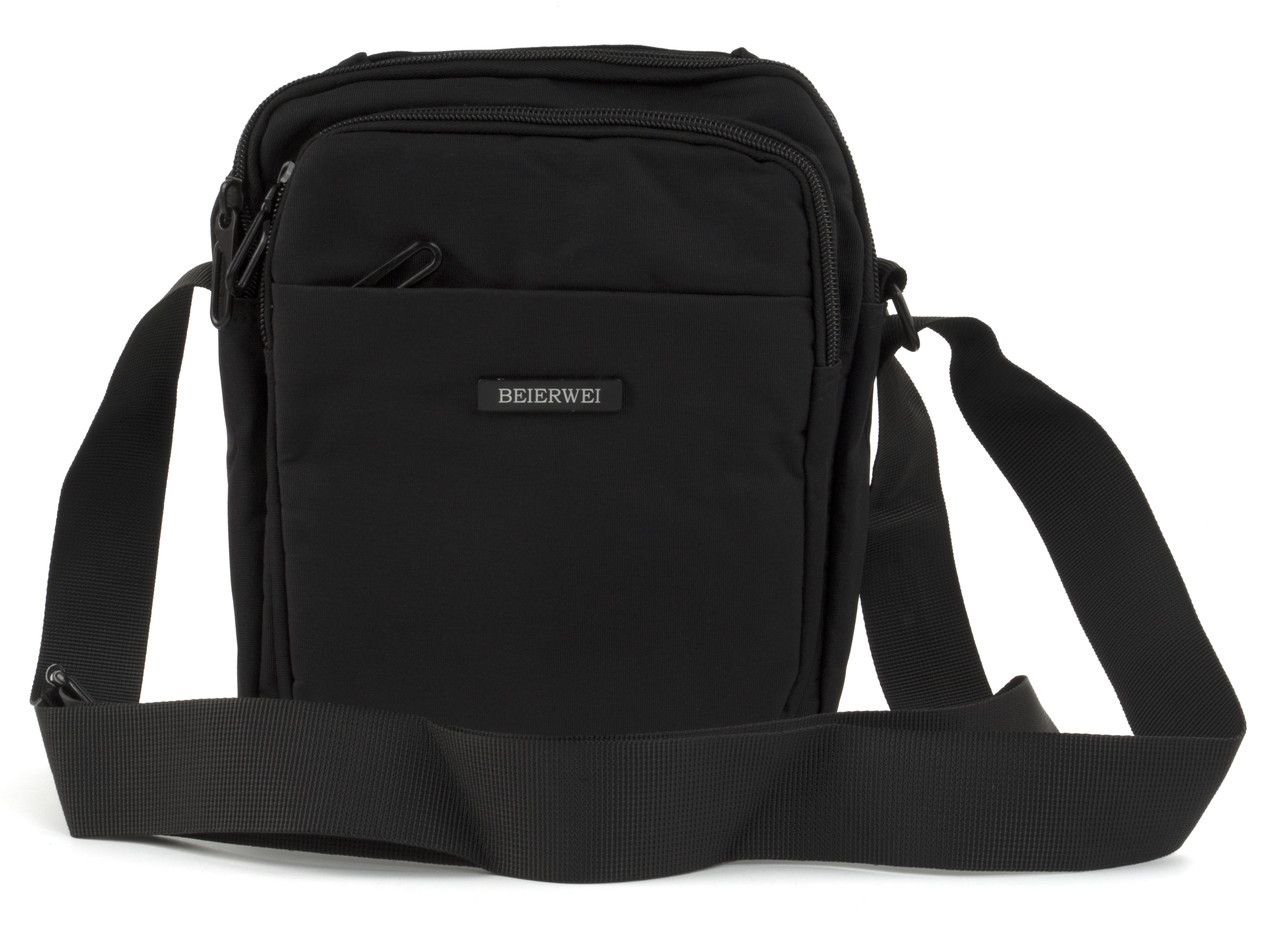 Вместительная мужская сумка Beierwei art. 8027 черная