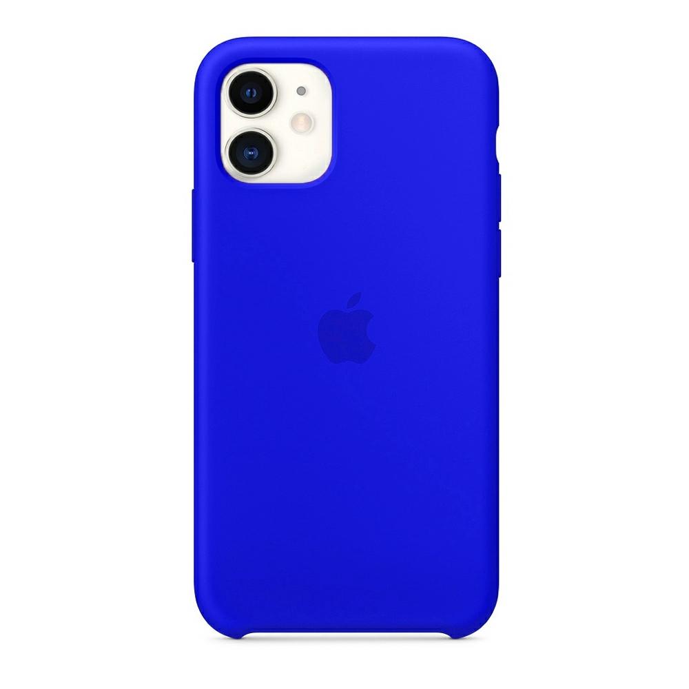 Чехол Silicone Case (Premium) для iPhone 11 Blue Neon