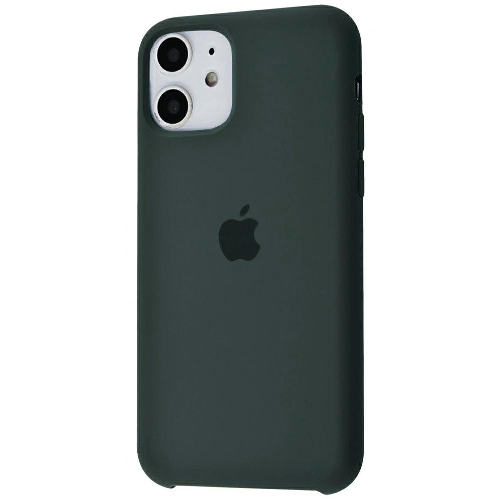Чехол Silicone Case (Premium) для iPhone 11 Dark Olive