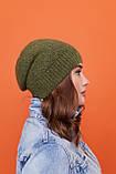 Стильный набор- шапка и хомут восьмерка-качества ЛЮКС шерсть, акрил. Очень тёплая. Разных цветов. код 6057К, фото 6