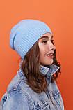 Стильный набор- шапка и хомут восьмерка-качества ЛЮКС шерсть, акрил. Очень тёплая. Разных цветов. код 6057К, фото 5
