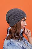Стильный набор- шапка и хомут восьмерка-качества ЛЮКС шерсть, акрил. Очень тёплая. Разных цветов. код 6057К, фото 7