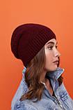 Стильный набор- шапка и хомут восьмерка-качества ЛЮКС шерсть, акрил. Очень тёплая. Разных цветов. код 6057К, фото 8