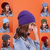 Стильный набор- шапка и хомут восьмерка-качества ЛЮКС шерсть, акрил. Очень тёплая. Разных цветов. код 6057К, фото 2