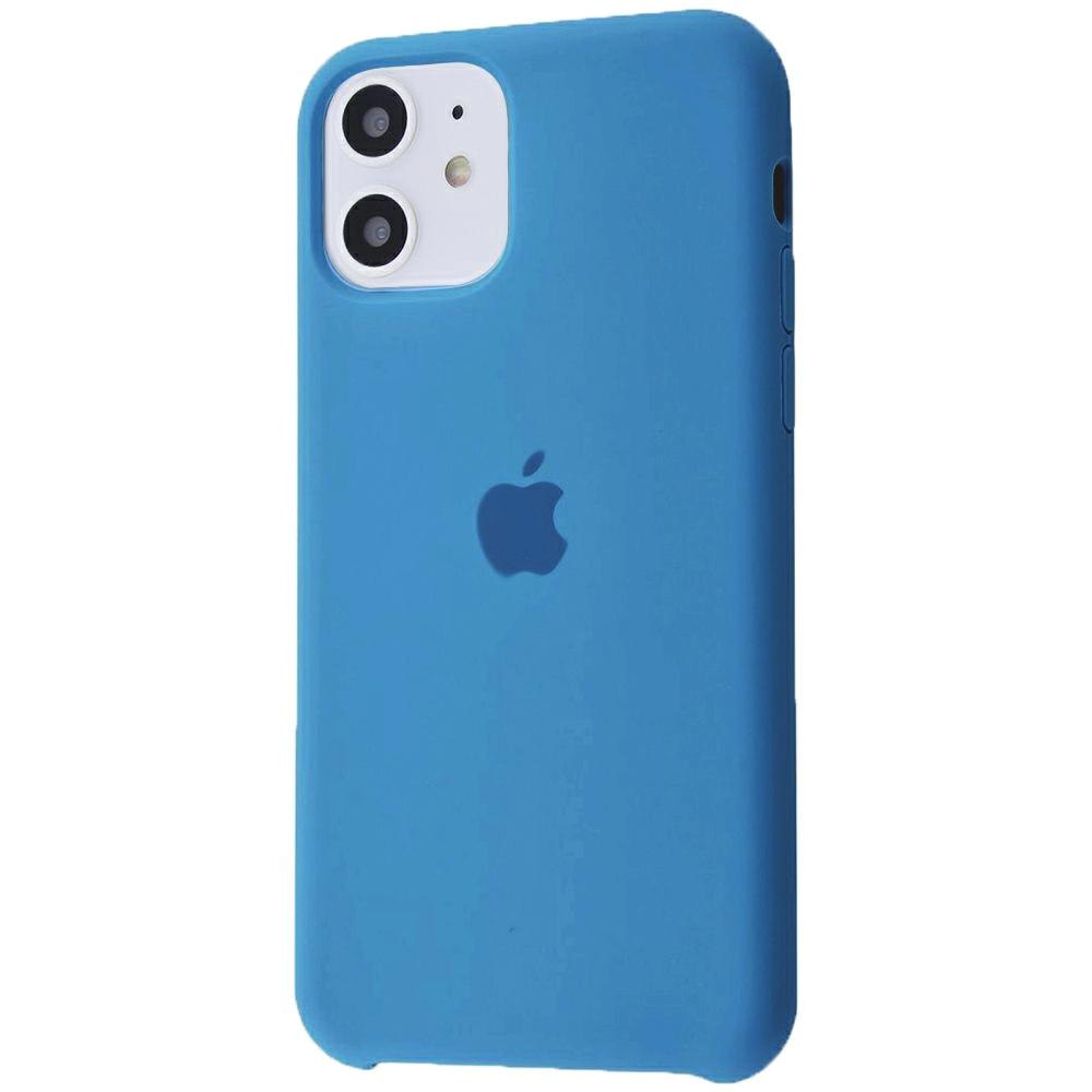 Чехол Silicone Case (Premium) для iPhone 11 Denim Blue