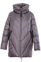 Зимний женский пуховик-куртка Visdeer графит, 85 см, размеры 52- 62