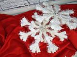 Новорічна Підвіска Сніжинка Їжачок 109781, фото 2