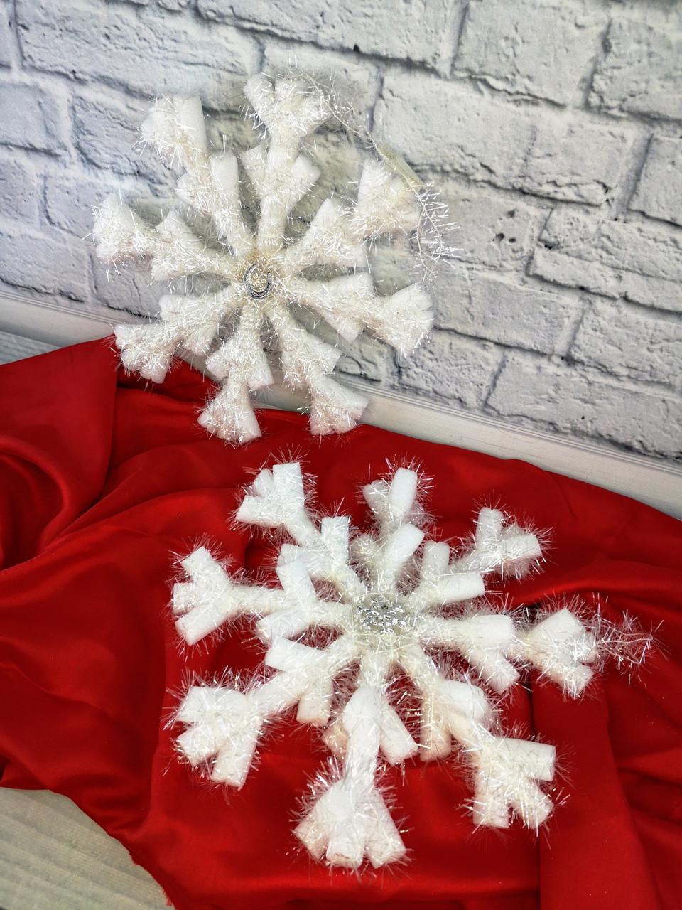 Новогодняя Подвеска Снежинка Ежик 109781