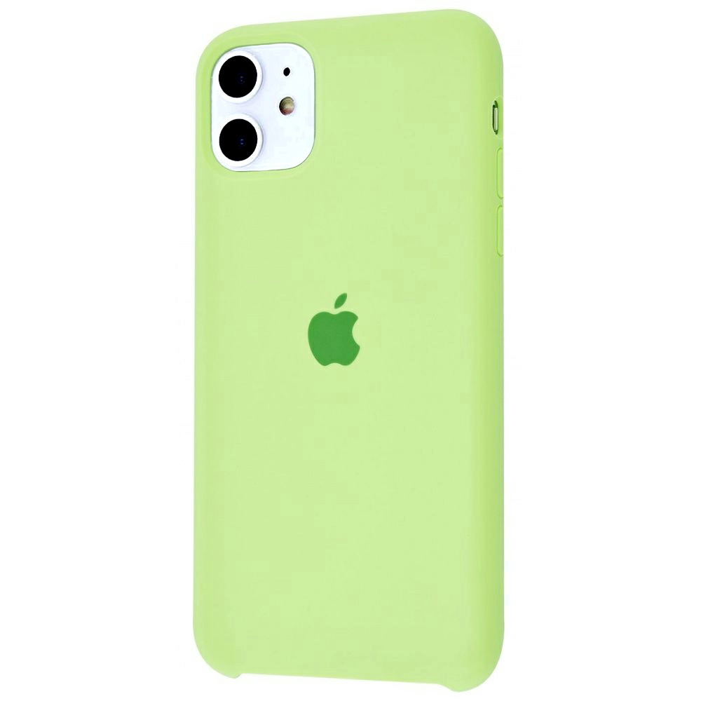 Чехол Silicone Case (Premium) для iPhone 11 Grass Green