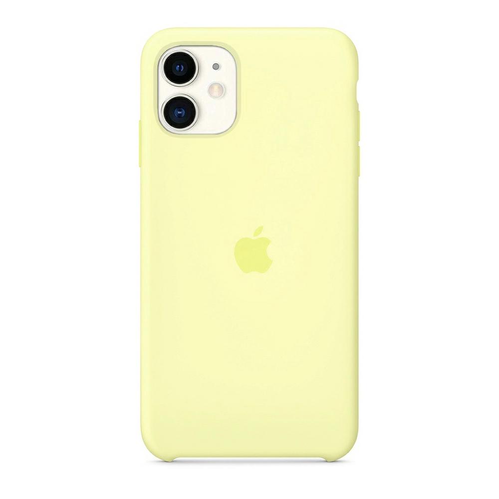 Чехол Silicone Case (Premium) для iPhone 11 Lemonade