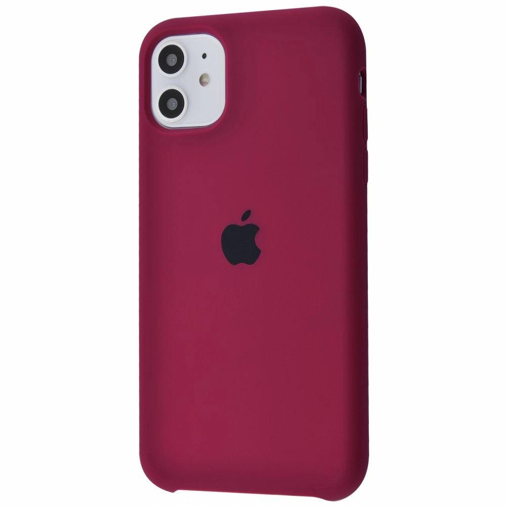 Чехол Silicone Case (Premium) для iPhone 11 Marsala