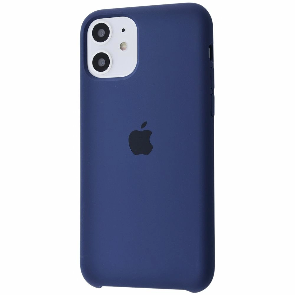 Чехол Silicone Case (Premium) для iPhone 11 Midnight Blue