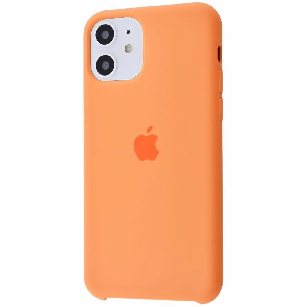 Чехол Silicone Case (Premium) для iPhone 11 Papaya