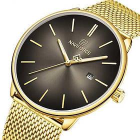 Часы Женские Naviforce NF3012L Gold-Black  ( часы Женские  классические Навифорс)  Браслет