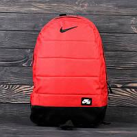 Рюкзак спортивный Nike Air Red красная сумка яркий стильный качественный портфель Найк кождно топ цвет красный
