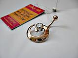 Золотий пірсинг у формі Спіраль 2.27 грама Золото 585 проби, фото 6