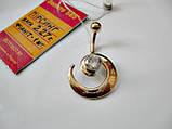 Золотий пірсинг у формі Спіраль 2.27 грама Золото 585 проби, фото 5