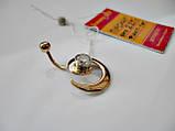 """Золотой пирсинг в форме """"Спираль"""" 2.27 грамма Золото 585 пробы, фото 4"""