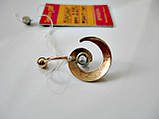 Золотий пірсинг у формі Спіраль 2.27 грама Золото 585 проби, фото 2