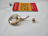 """Золотой пирсинг в форме """"Спираль"""" 2.27 грамма Золото 585 пробы, фото 8"""