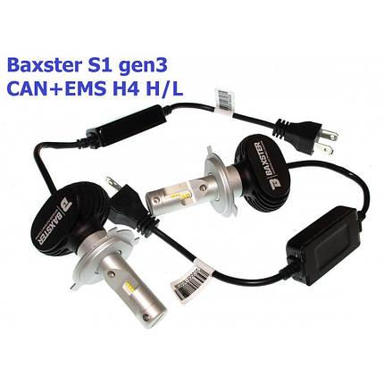 Комплект LED ламп BAXSTER S1 gen3 H4 5000K 4000lm CAN+EMS, фото 2