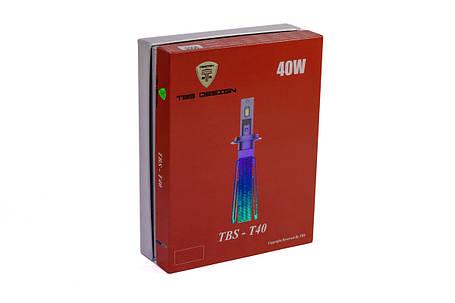 Комплект LED ламп HeadLight TBS-T40 H4 (P43t) 80W 9-32V 6000K, фото 2