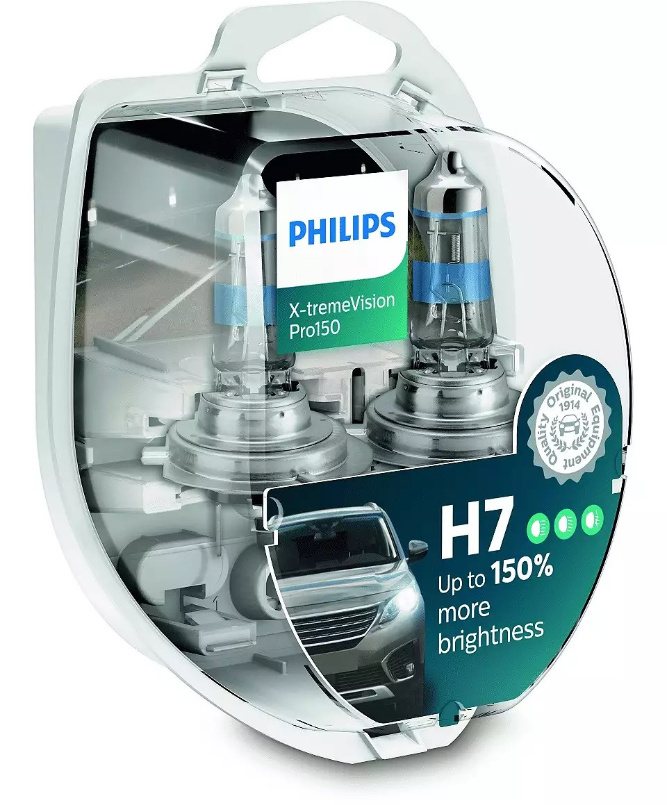Автолампа PHILIPS 12972XVPS2 H7 55W 12V X-tremeVision Pro150 +150%