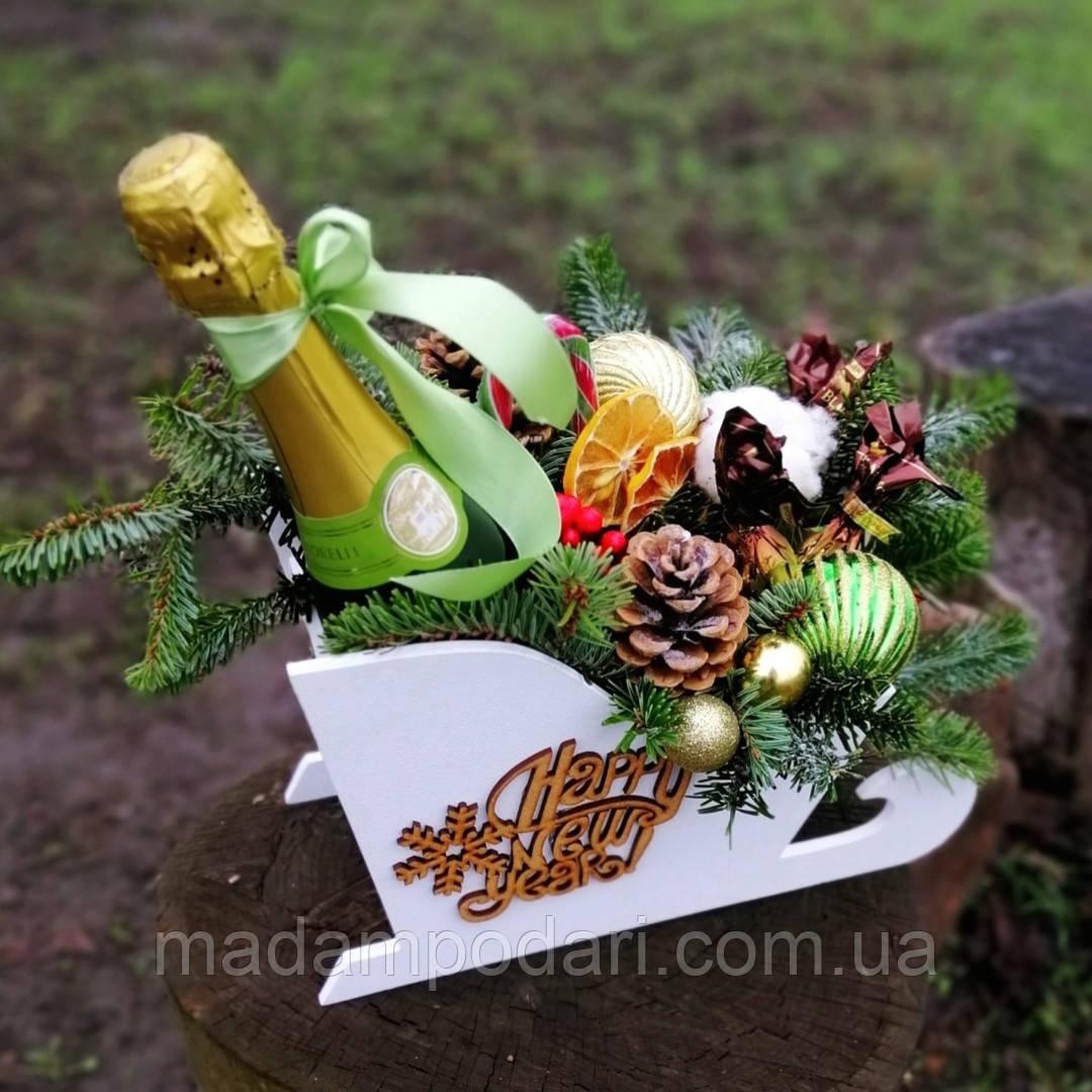 Шампанское с конфетами