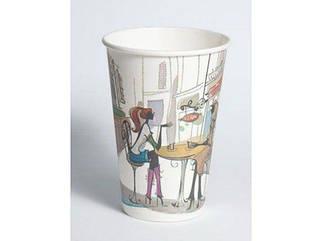"""Стакан для чая и кофе 340 мл """"№34 Дама в кафе"""" Маэстро (50 шт)"""