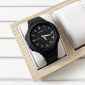 Часы Sanda 6005 Black-Silver, Спортивные,  Женские-Мужские,  Каучуковый ремешок