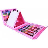 Набор для творчества и рисования в чемодане из 208 предметов Розовый