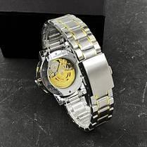 Годинники Winner (Віннер скелетон) 8012 Diamonds Automatic Silver-Gold, Чоловічі, Сталевий браслет, фото 3