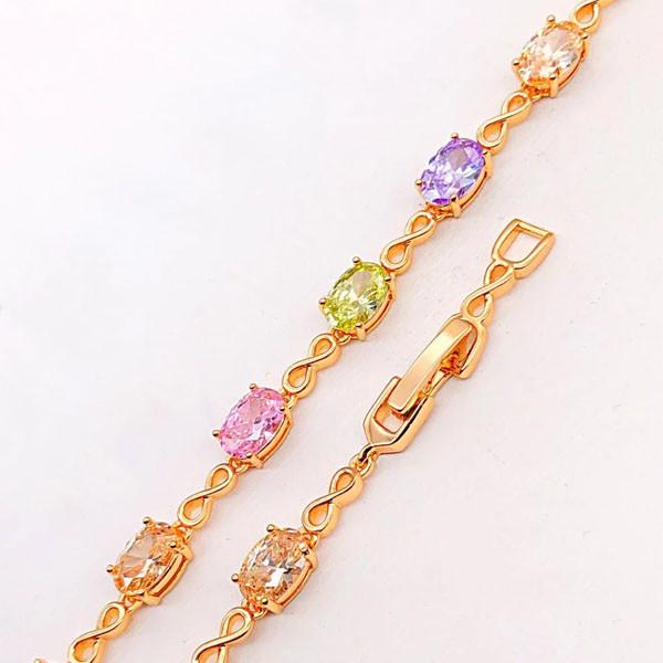 Браслет Xuping Jewelry 17,5/19,5 см Бейли цветные медицинское золото позолота 18К А/В 4-0114