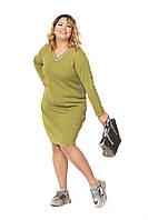 Платье цвет оливковый