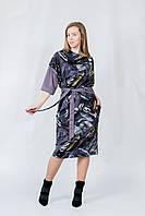 Платье узор абстракция / Цвет слива