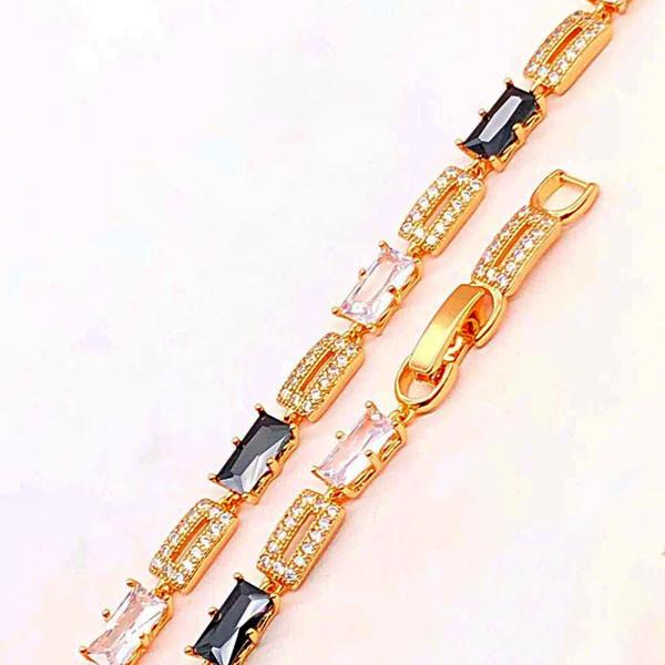 Браслет Xuping Jewelry 16,5/19 см Дариан черно-белые медицинское золото позолота 18К А/В 4-0115