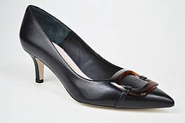 Лодочки на низком каблуке Bravo Moda 1902 Черные кожа 40