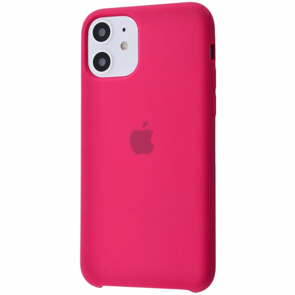 Чехол Silicone Case (Premium) для iPhone 11 Rose Red