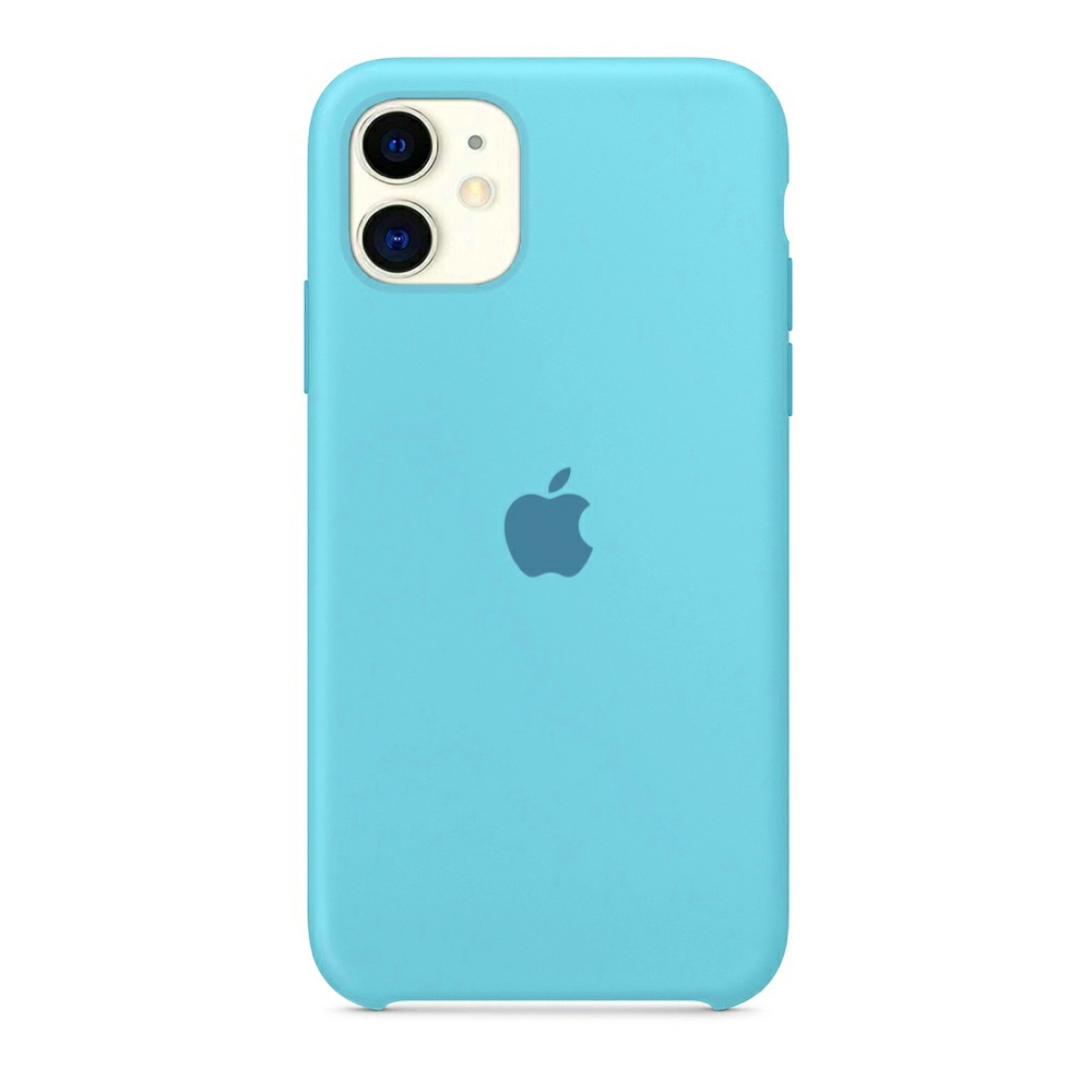 Чехол Silicone Case (Premium) для iPhone 11 Sea Blue