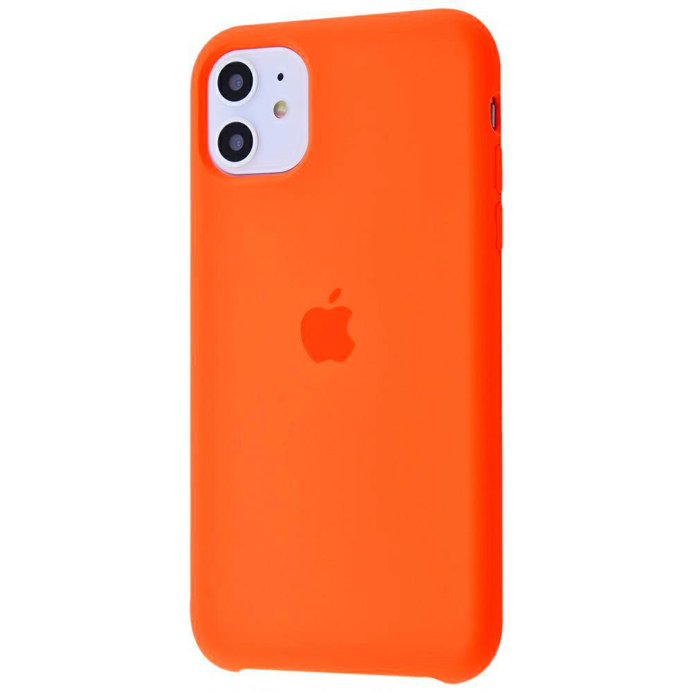 Чехол Silicone Case (Premium) для iPhone 11 Spicy Orange