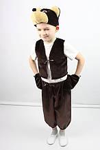 Карнавальный костюм для мальчика МИШКА шоколад, для 3-4 и 5-6 лет