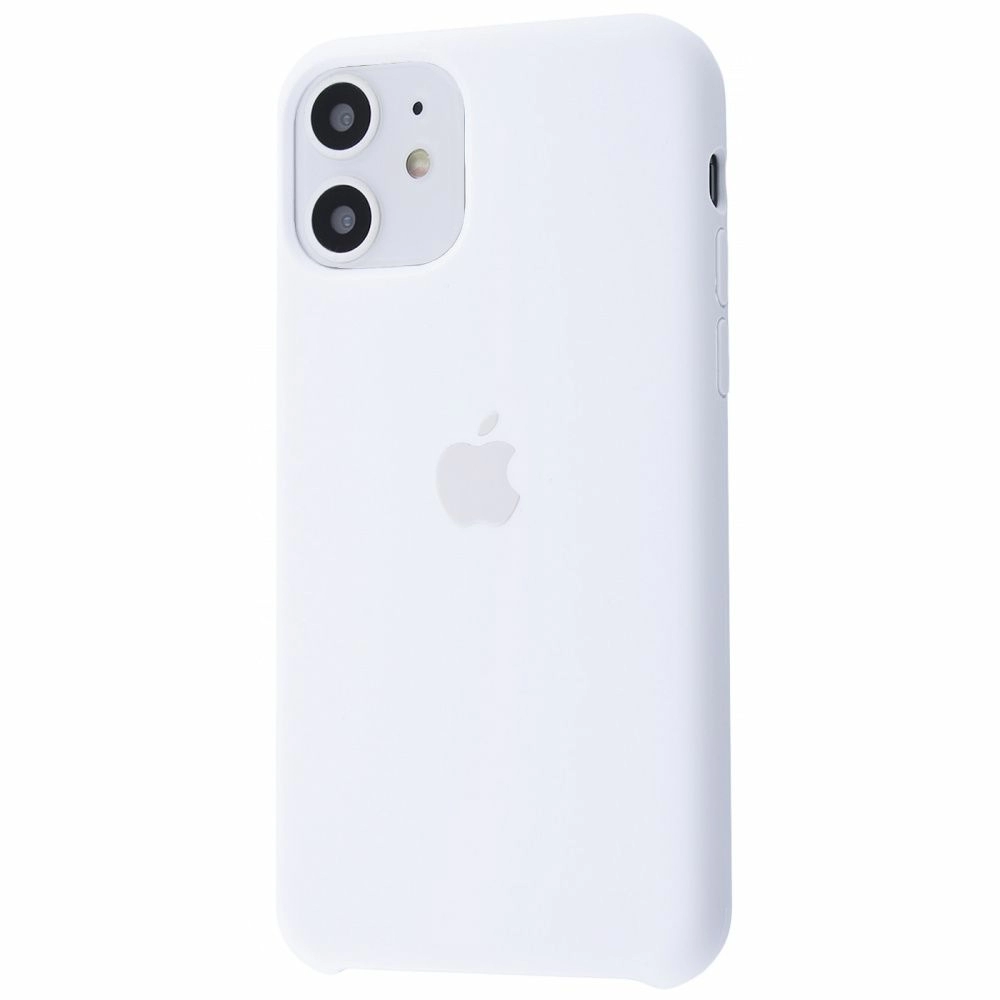 Чехол Silicone Case (Premium) для iPhone 11 White
