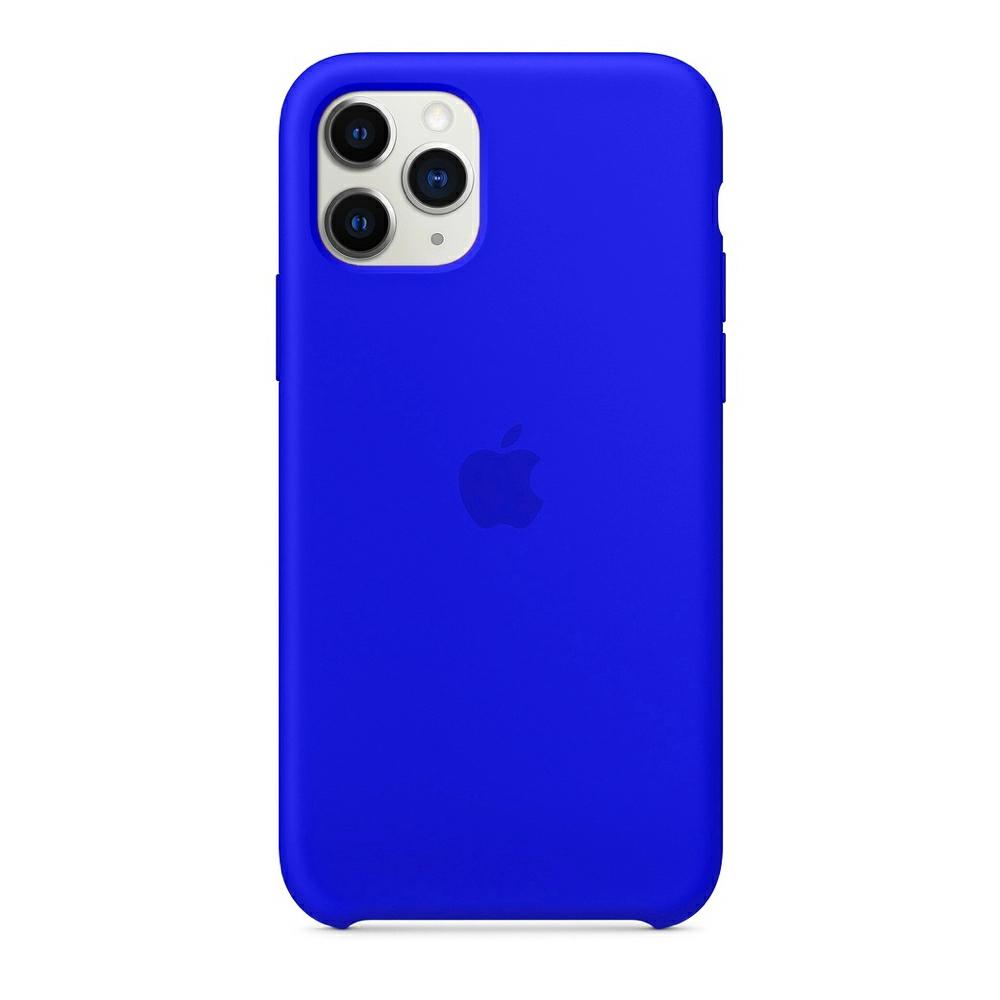 Чехол Silicone Case (Premium) для iPhone 11 Pro Max Blue Neon