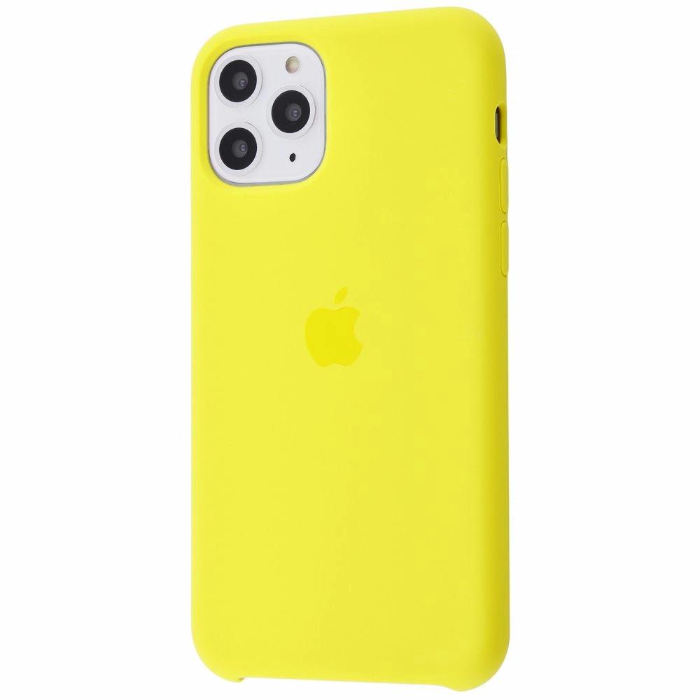 Чехол Silicone Case (Premium) для iPhone 11 Pro Max Canary Yellow