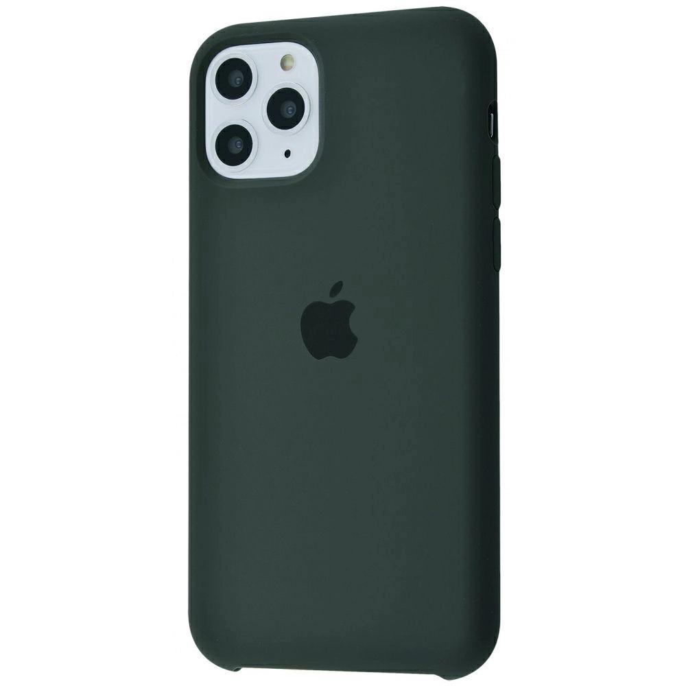 Чехол Silicone Case (Premium) для iPhone 11 Pro Max Dark Olive