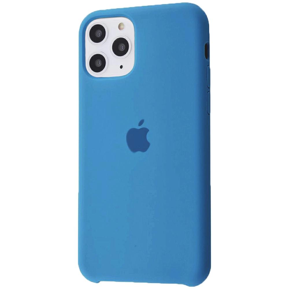 Чохол Silicone Case (Premium) для iPhone 11 Pro Max Blue Denim