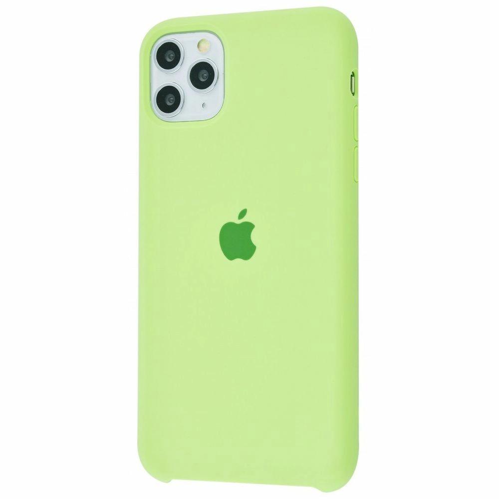 Чехол Silicone Case (Premium) для iPhone 11 Pro Max Grass Green