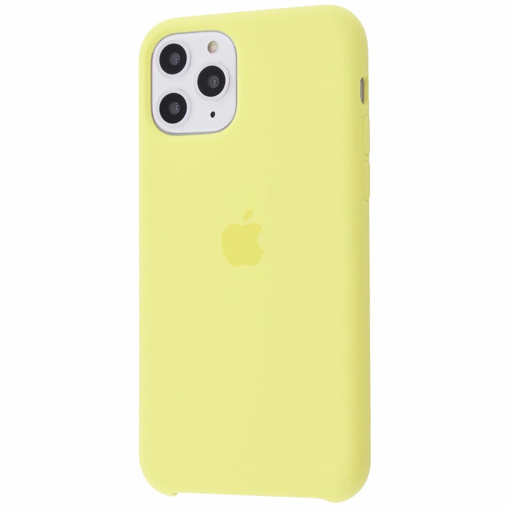 Чехол Silicone Case (Premium) для iPhone 11 Pro Max Mellow Yellow